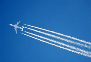 chemtrail jet spraying